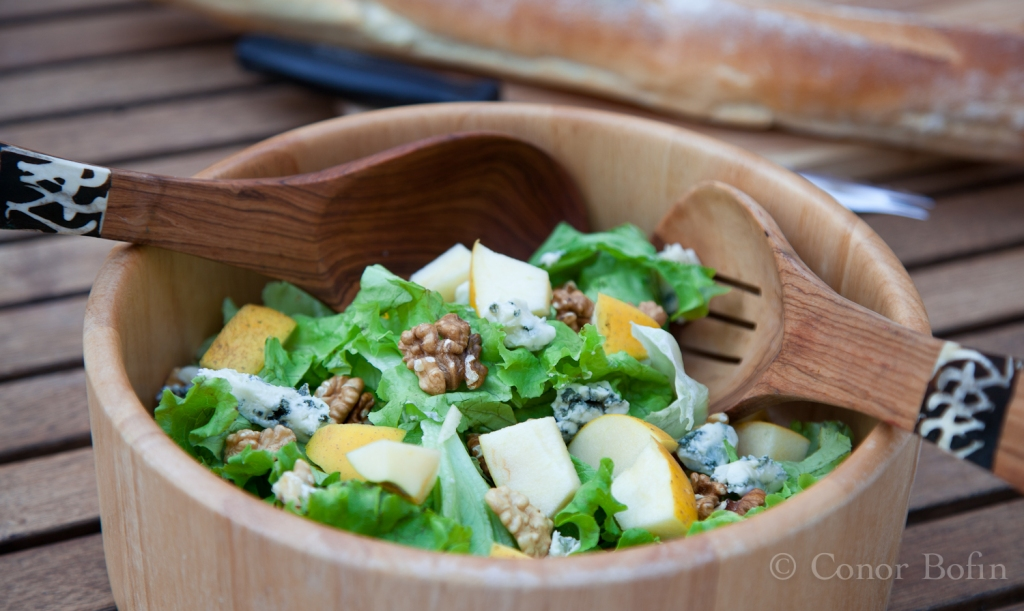Apple walnut & blue cheese salad