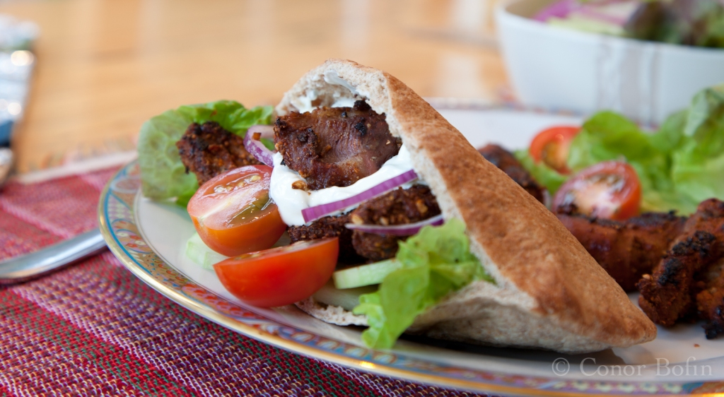 Lamb in pitta bread