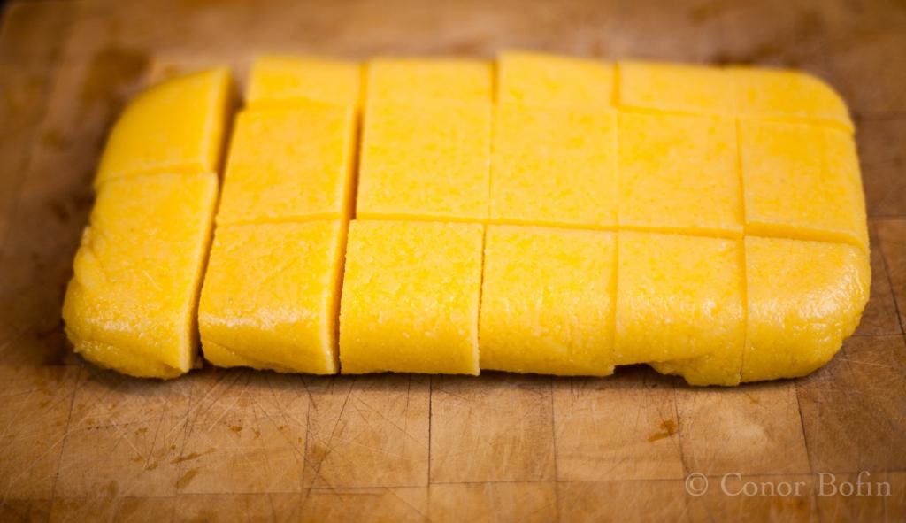 Polenta chopped