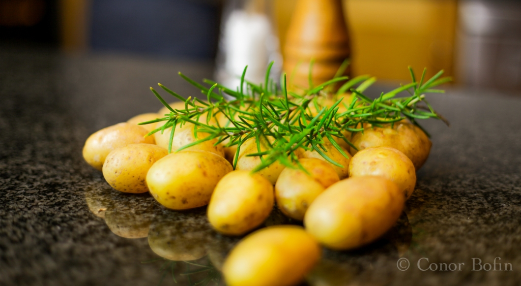 Potatoes and rosemary