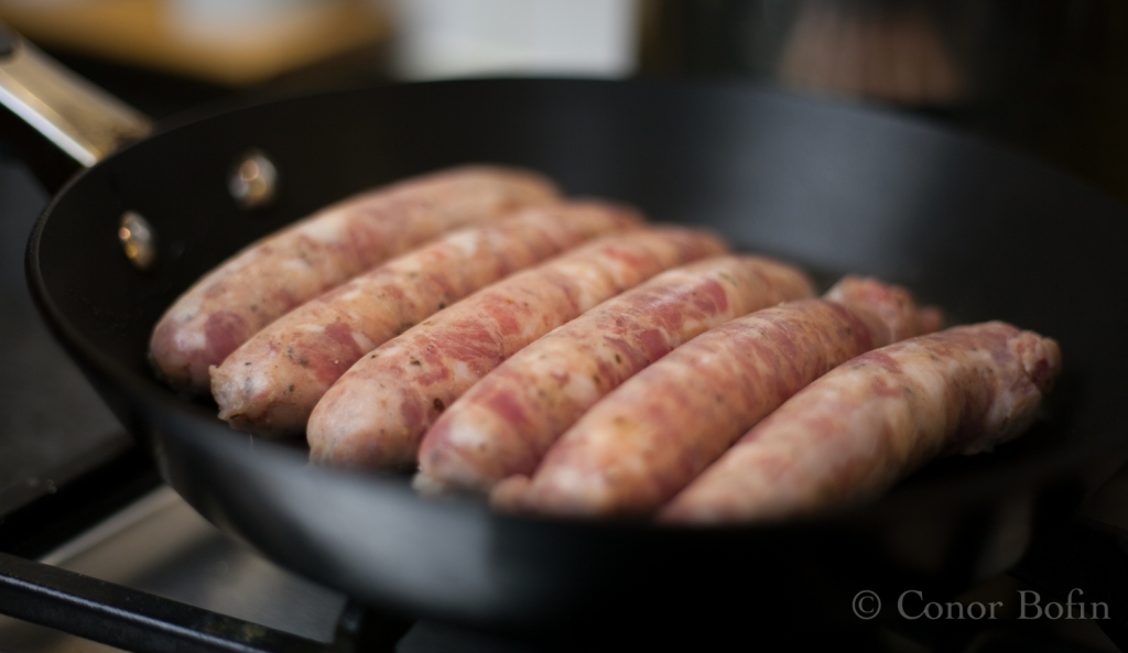 Sausages in the pan