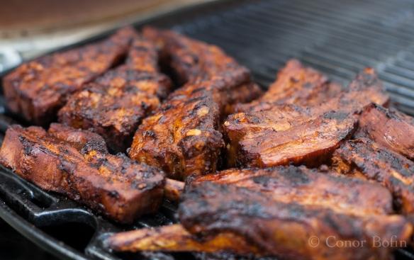 Ancho honey ribs